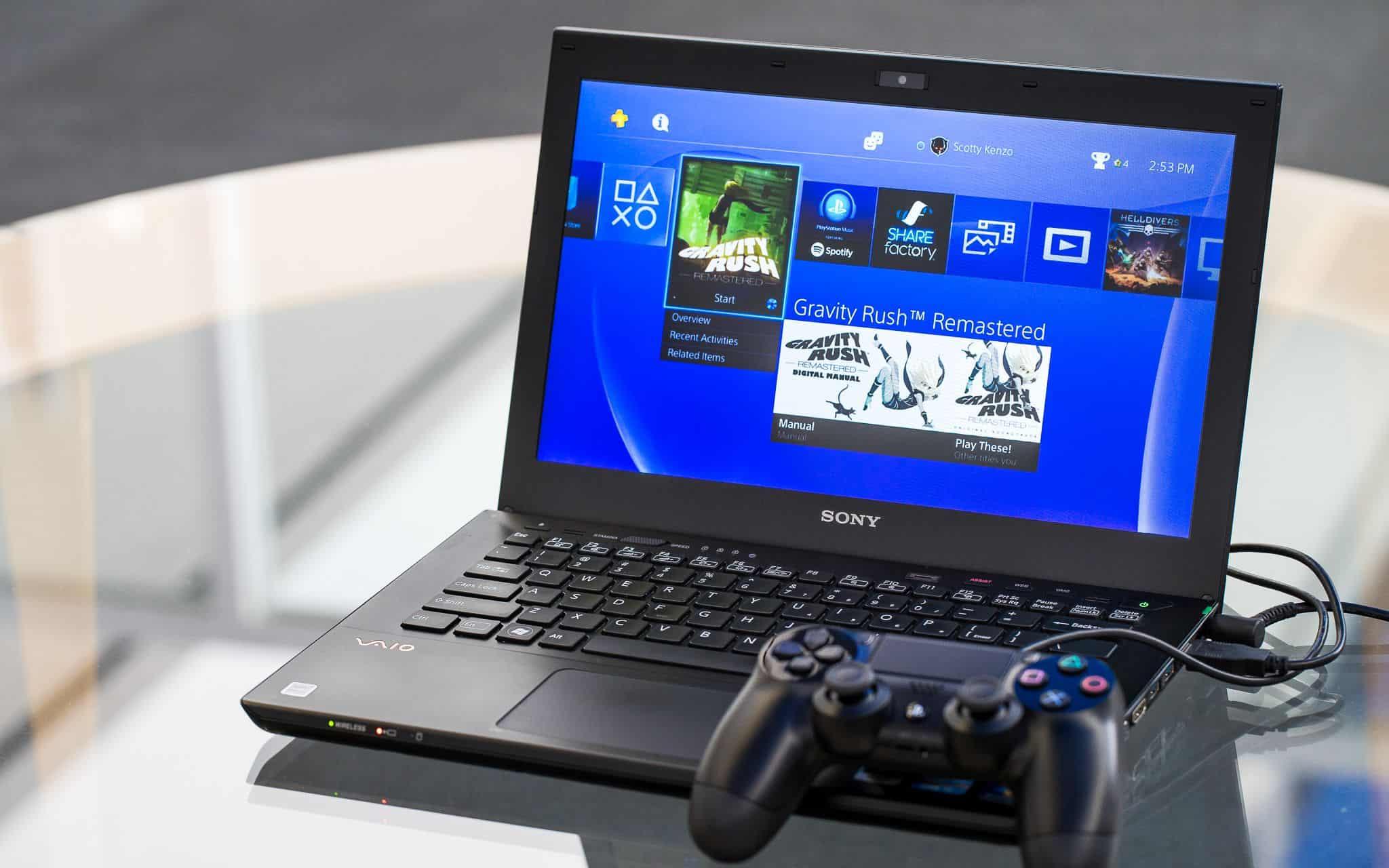 Как подключить PS4 к ноутбуку