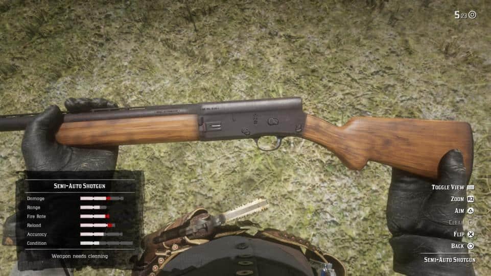 Red Dead Redemption 2 дробовик