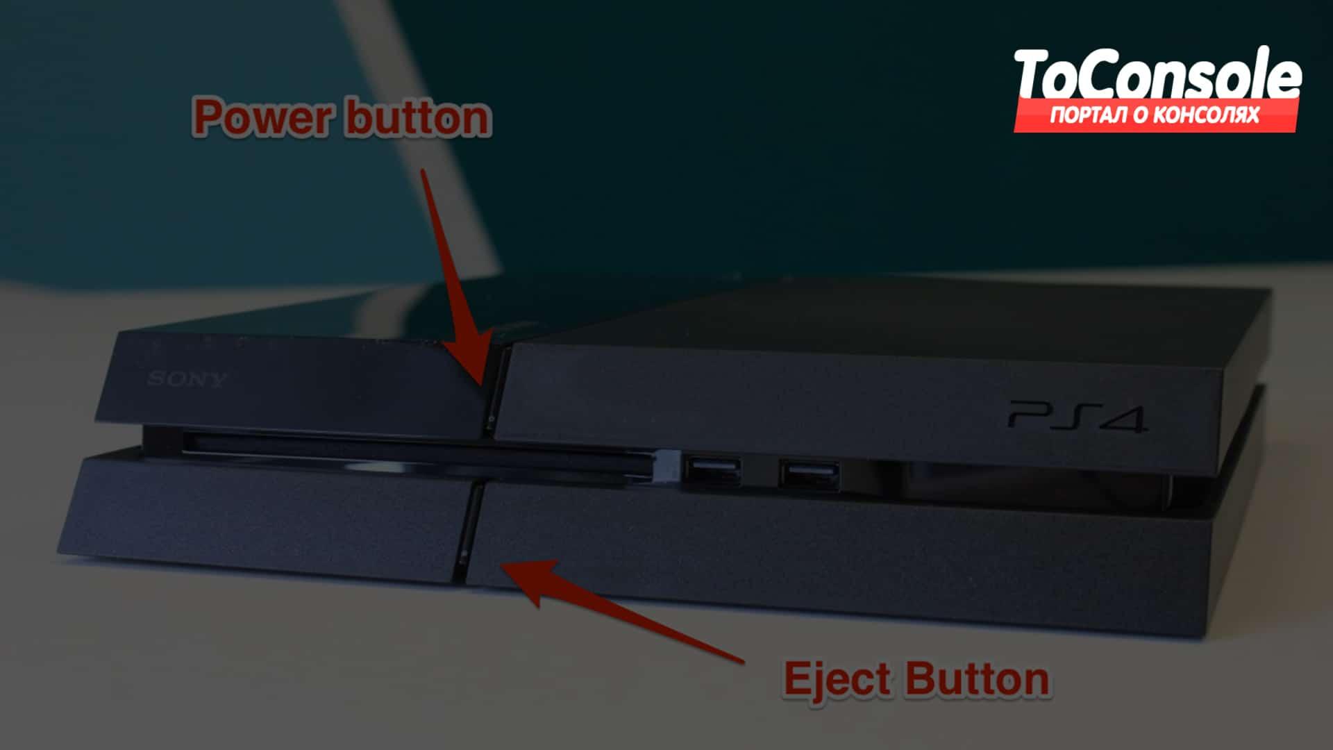 Включение и выключение системы PS4