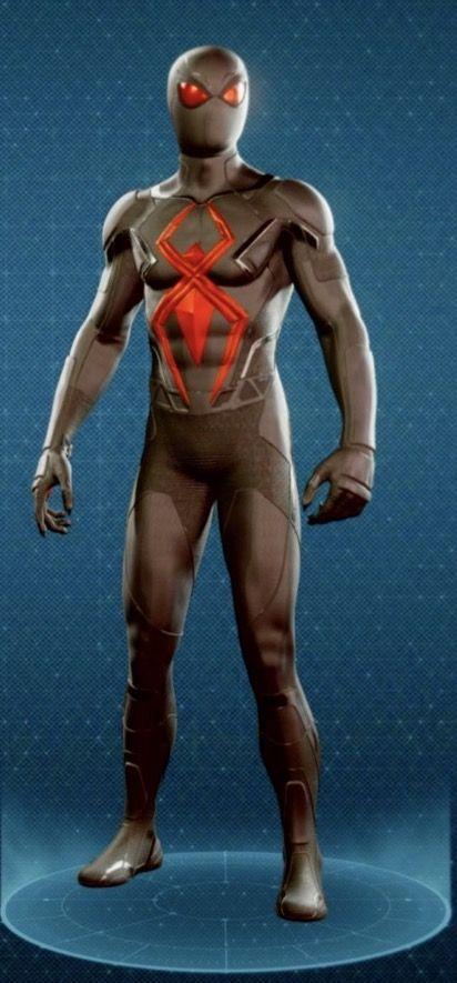 Изолированный костюм человека паука